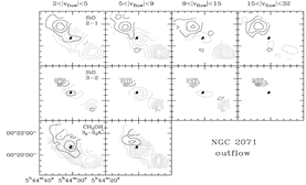 SiO maps of NGC2071